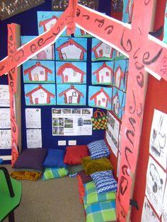 Whakarite i te akomanga pera ki te marae. Library Displays, Classroom Displays, Maori Legends, Waitangi Day, Maori Symbols, Reception Class, Summer Reading Program, Maori Art, Teaching Art
