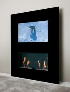 Double Vision Safretti Ethanol Fireplace | The Panday Group Safretti Fireplace Collection - #Fireplace #InteriorDesign #Fire #Safretti Wall Fires, Swivel Tv Stand, Ethanol Fireplace, Luxury Interior Design, Flat Screen, New Homes, Double Vision, Screens, Decor Ideas