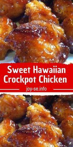 crockpot hawaiian chicken recipe sweet Sweet Hawaiian Crockpot Chicken RecipeYou can find Crockpot recipes - Oppo system Slow Cooker Recipes, Meat Recipes, Cooking Recipes, Healthy Recipes, Dinner Recipes, Good Recipes, Cooking Hacks, Cooking Videos, Gourmet