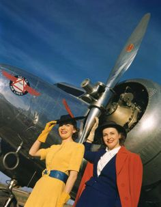 Beautiful Promotional Photo Shoots of Lockheed Electra Aircrafts for Delta Airlines, 1940.