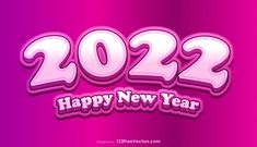 Free Happy New Year 2022 Pink Background