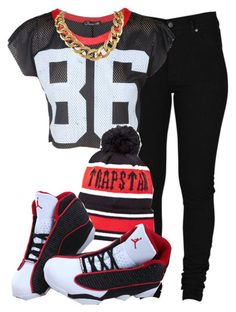 """Trapstar"" by cheerstostyle ❤ liked on Polyvore"