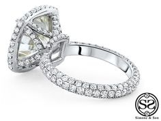 The Ariston - Custom Halo Engagement Ring | Simone & Son | Orange County Custom Jewelry