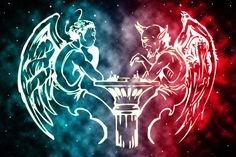 Devil Playing Chess Painting | and devil playing chess by ushumgal ...
