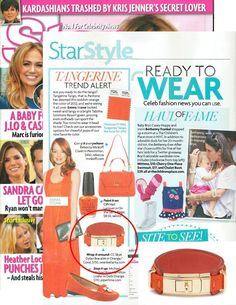 (Jan 30, 2012) Star Magazine:  Pantone has deemed Tangerine Tango (reddish-orange) to be the color of 2012! Wrap it around with our orange Dylan Cuff from SwankAtlanta.com!