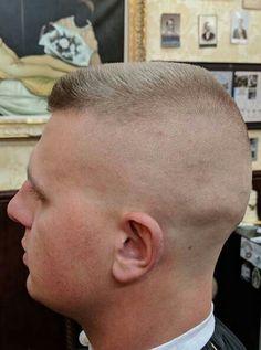 Short Buzz Cut, Short Hair Cuts, Short Hair Styles, Buzz Cuts, Slick Hairstyles, Hairstyles Haircuts, Flat Top Haircut, Brylcreem, Shaved Head