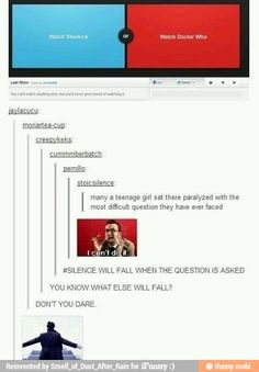 Doctor who Sherlock / iFunny :) |  I just love this so much im pinning it again