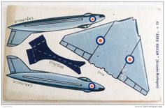 DECOUPAGE BANANIA AVION AVIATION 42 - A AVRO VULCAN  GRANDE BRETAGNE