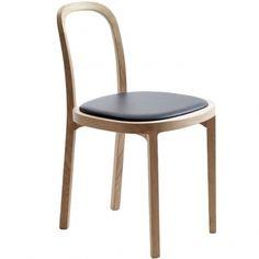 Siro + chair, oak - black leather