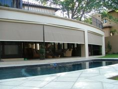 Motorized patio screens | AC Screens and Shutters These are an excellent way to keep the sun out when it gets most hazardous.