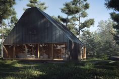 Architecture projects – Rendered with V-Ray Villa, Shed, Outdoor Structures, Cabin, Architecture, House Styles, Chaos Group, Home Decor, Lighting