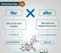 """Résultat de recherche d'images pour """"alike grammar"""""""