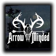 b68c4c6b888 Bow Arrow minded Hunting Window Decal Sticker