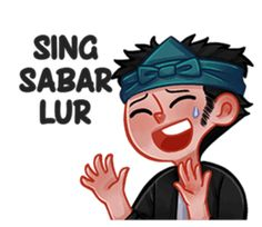 Make chats more fun with Bocah Sunda Sticker. - A new Sundanese slang Sticker, specially created for you . Funny Text Memes, Funny Texts, Quotes Lucu, Cartoon Jokes, Joko, Funny Stickers, Line Sticker, Funny Faces, Girl Humor