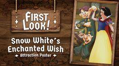 A Disney compartilhou o mais novo pôster de atração Snow Whites Enchanted Wish do Disneyland Resort. #DisneylandPark #SnowWhitesEnchantedWish Enchanted, Disney Parks Blog, Disneyland Resort, Downtown Disney, Walt Disney Company, Disney And More, New Poster, California, Animation Film