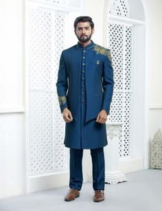 Mens Sherwani, Sherwani Groom, Wedding Sherwani, Punjabi Wedding, Groom Wedding Dress, Wedding Men, Wedding Suits, Groom Dress, Wedding Reception