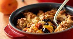 Crumble d'abricots, fruits rouges et rhubarbeVoir la recette >>