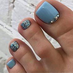 Pedicure Designs, Pedicure Nail Art, Toe Nail Designs, Pretty Toe Nails, Cute Toe Nails, Gel Zehen, Gel Nails, Toe Nail Color, Toe Nail Art