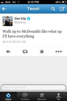Owl City tweet<< Adam is me. I am Adam.