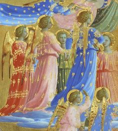 Fra Angelico, The Death and the Assumption of the Virgin, detail, 1432