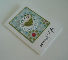 Greeting card - stampin with beemybear