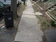 PROPERTY REHABBING: Defective Masonry Sidewalk - Before. Servicing Belleville, 07109, Bloomfield, 07003, Caldwell, 07007, Cedar Grove, 07009, East Orange, 07017, 07018, 07019, East Hanover, 07936, Fairfield, 07004, Little Falls, 07424, Livingston, 07039, Maplewood, 07040, Millburn, 07041, Montclair, 07042, 07043, Newark 07106, 07104, Nutley, 07110, Orange 07050, 07051, Roseland, 07068, Short Hills 07078, South Orange, 07079, Verona, 07044, West Caldwell, 07006, West Orange, 07052