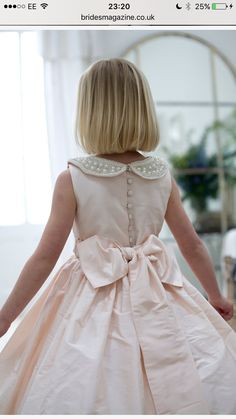 Peter Pan collar flower girl dress