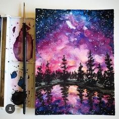 Images and videos of galaxy art Galaxy Painting, Galaxy Art, Painting Inspiration, Art Inspo, Ciel Nocturne, Guache, Beautiful Drawings, Beautiful Images, Acrylic Art
