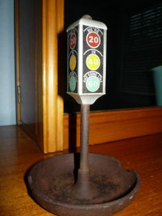 Vintage Stop Light Cast Iron