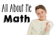All About Me Math Freebie! I've been jealous of all the adorable Math About Me activities for younger students. They are all to stinkin' cute! I didn't want my third graders to miss out on all the fun, so I create a short, sweet version for upper elementary students. It's fairly basic, but there's a catch (of course)! Students cannot simply answer with a number. They must answer the questions with a number sentence that equals that number.