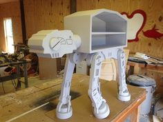 Star Wars inspired storage unit/ATAT/3ft by WoodCurve on Etsy