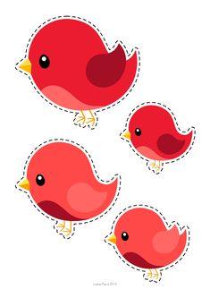 Okul Öncesi Renkli Kuş Mobil Kalıpları - Okul Öncesi Etkinlik Faliyetleri - Madamteacher.com
