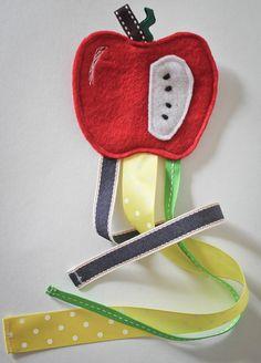 Hair clip holder - hair clip organizer - Apple model. $13.00, via Etsy.