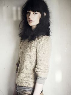 (This hair is magic. It's so close to frizzy but it's sexy and rumpled, too. I'm fascinated.) Humanoid AW11/12