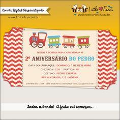 Convite Festa Trenzinho Digital