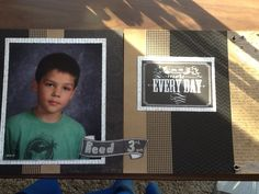 Reeds school picture 2013-2014.  Created by Carla Ramirez using CTMH products.