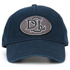 7151757905d9a2 Diesel Embroidered Patch Baseball Cap ($43) ❤ liked on Polyvore featuring  accessories, hats, blue, baseball cap, baseball hats, baseball caps hats,  ball ...