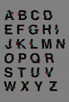 Glitched Helvetica, The Kraftwerk-Inspired KWERK typeface Typography Alphabet, Typography Fonts, Typography Design, Typo Design, Glitch Font, Glitch Tv, Glitch Effect, Bts Design Graphique, Tv Static