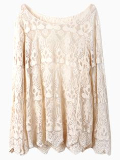 Want! Love Lace! Gorgeous Floral Crochet Blouse