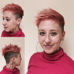 Short hair , matrixhair , kratke vlasy Brno Short Hair Styles, Hoop Earrings, Fashion, Bob Styles, Moda, La Mode, Short Length Haircuts, Fasion, Fashion Models