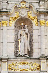 La bibliothèque de l'institut catholique de Leuven — Flandres, Belgique