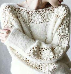 Fabulous Crochet a Little Black Crochet Dress Ideas. Georgeous Crochet a Little Black Crochet Dress Ideas. Crochet Cardigan, Crochet Lace, Tricot D'art, Knitting Patterns, Crochet Patterns, Crochet Fashion, Crochet Designs, Crochet Clothes, Knitwear