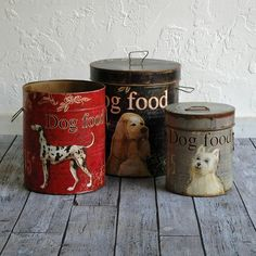 Vintage look Dog Food Storage