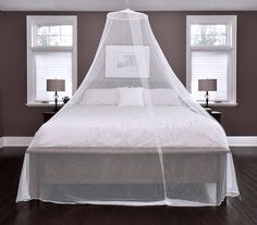Conical Mosquito Net for Single to King size beds - Hanging Kit