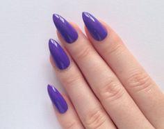 Purple Stiletto nails, Nail designs, Nail art, Nails, Stiletto nails, Acrylic nails, Pointy nails, Fake nails