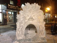 Old Man Winter Ice Carving