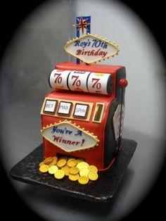 Slot machine birthday cake cakes slot machine cake, casino c Vegas Party, Casino Party, Casino Theme, Casino Night, Mini Hamburgers, Halloumi, American Cupcakes, Cake Aux Raisins, Birthday Cakes