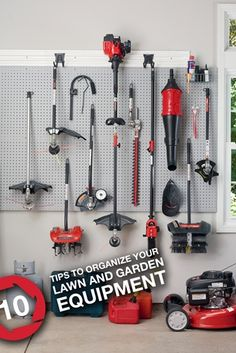 10 Tips to Organize Your Lawn and Garden Equipment from Troy-Bilt