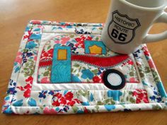 Camper mug rugs snack mats vintage camper by SusansPassion on Etsy