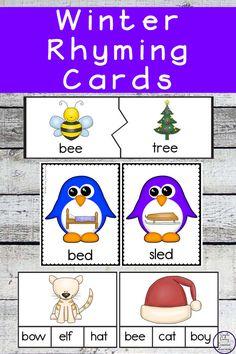 Winter Rhyming Cards